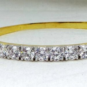 CZ Bracelet Yellow Gold Plated